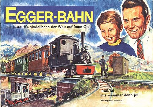Title page of the EGGER-BAHN catalogue 1965/66